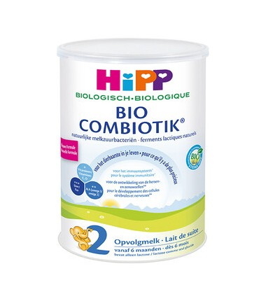HiPP Dutch Stage 2 (6-12 months) Organic Combiotic Follow On Infant Milk Formula (800g/28oz) - 8 Pack
